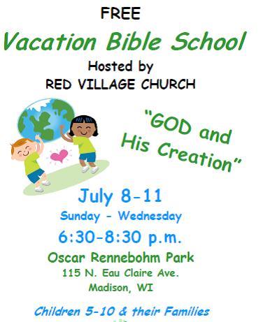 vacation bible school red village church. Black Bedroom Furniture Sets. Home Design Ideas