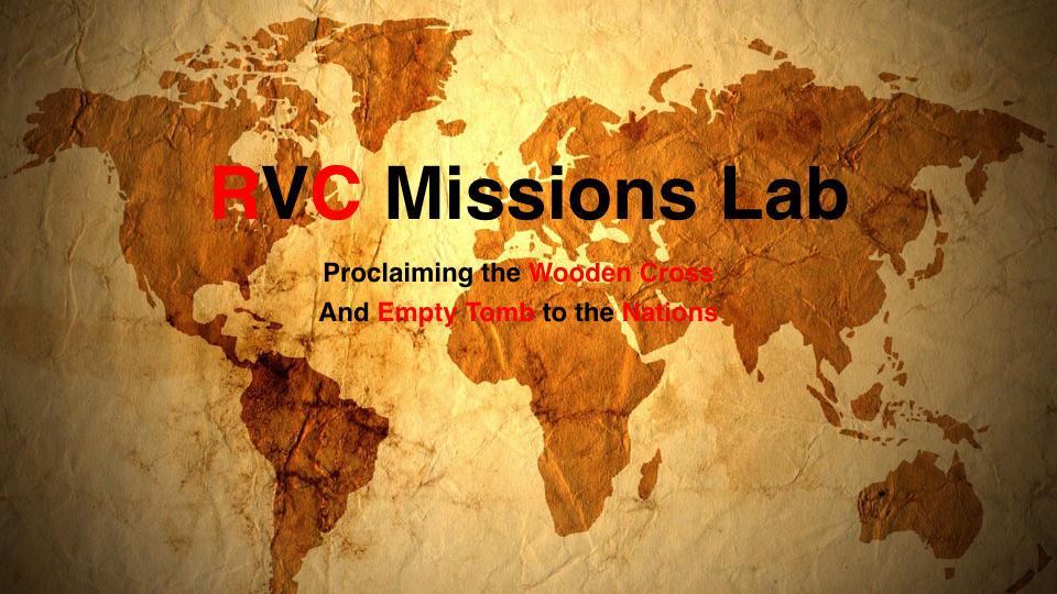 RVC Missions Lab-